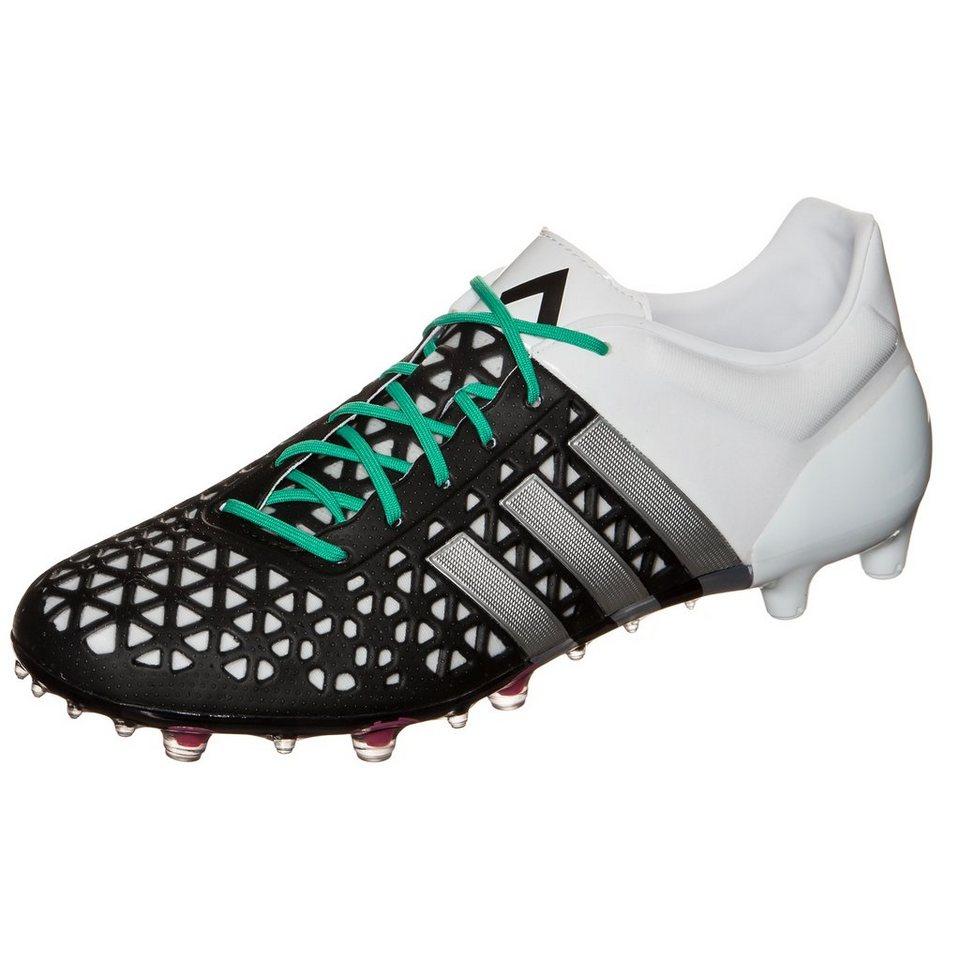 adidas Performance ACE 15.1 FG/AG Fußballschuh Herren in schwarz / weiß