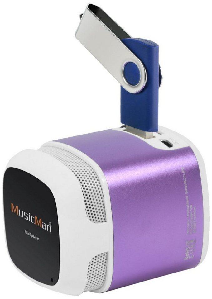 Technaxx Lautsprecher »MusicMan MAKRO X6 lila«