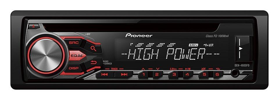 PIONEER 1-DIN Autoradio »DEH-4800FD« in schwarz