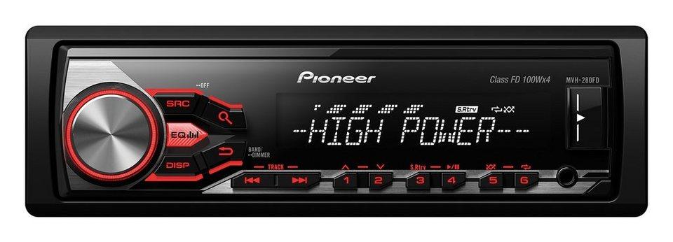 PIONEER 1-DIN Autoradio »MVH-280FD« in schwarz