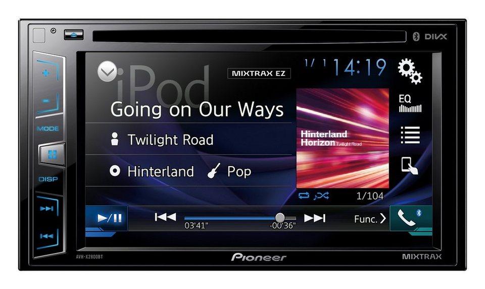 PIONEER 2-DIN Bluetooth Moniceiver »AVH-X2800BT« in schwarz