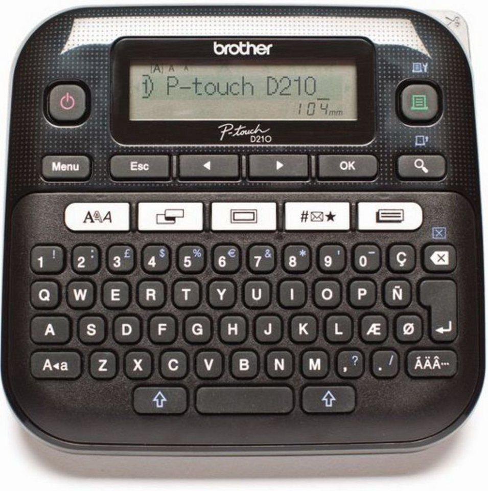 Brother Beschriftungsgerät »P-touch D210 Desktop« in Schwarz