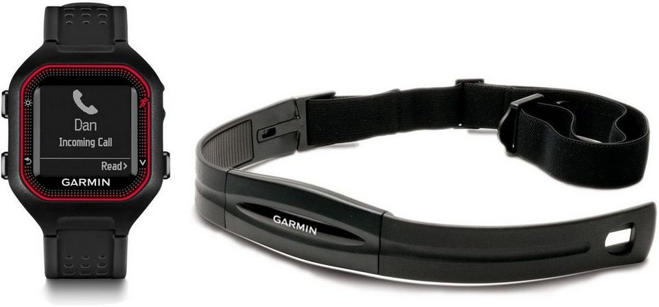 Garmin Sportuhr »Forerunner 25 HR-Bundle (Large)« in Schwarz-Rot