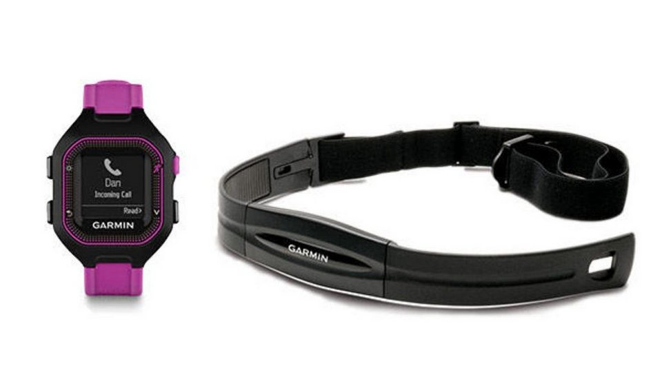 Garmin Sportuhr »Forerunner 25 HR-Bundle (Small)« in Violett-Schwarz