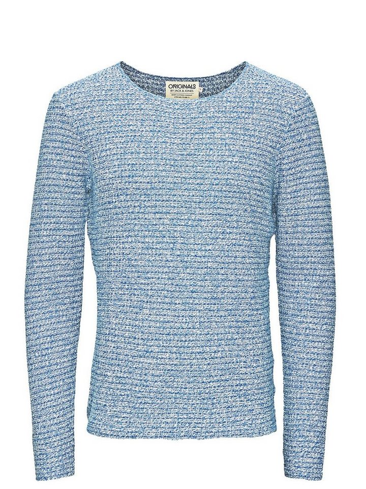 Jack & Jones Strukturierter Crew-Neck- Pullover in True Blue