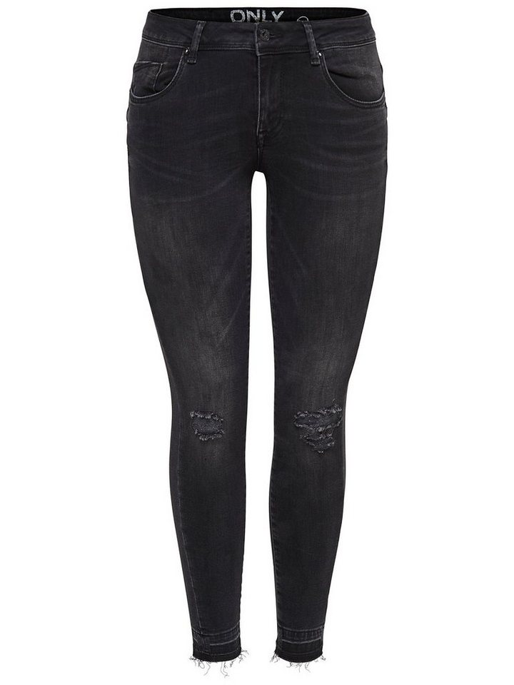 Only Coral Low-Knie Skinny Fit Jeans in Black