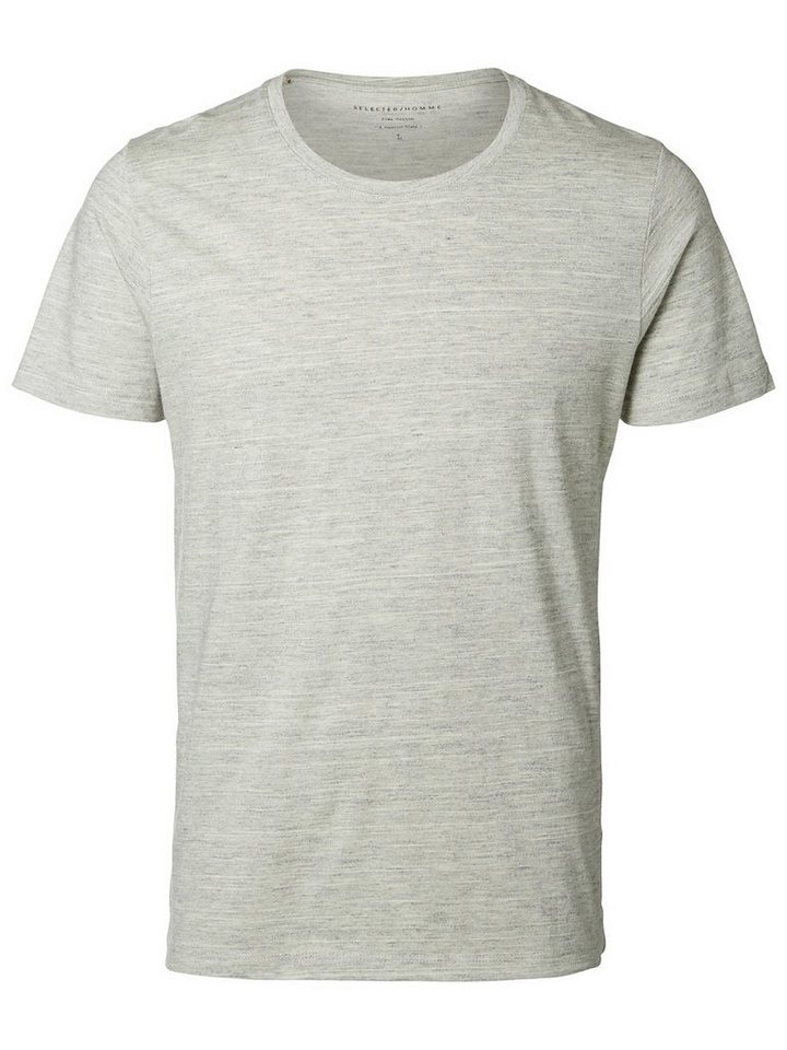 Selected Pima-Baumwoll T-Shirt in Slate Gray