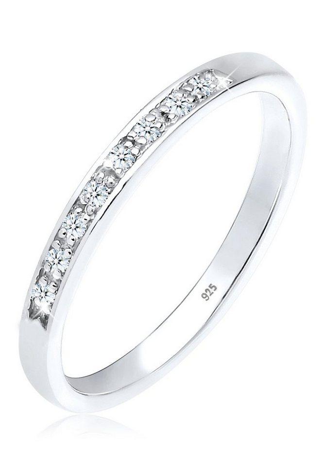 DIAMORE Ring »Aufsteckring Diamant 0.08 ct. 925 Silber« in Weiß