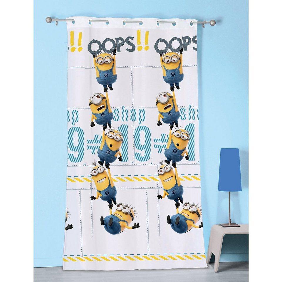 CTI Vorhang Minions Oops, 140 x 240 cm in weiß