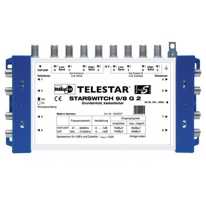 TELESTAR Multischalter-Grundeinheit »STARSWITCH 9/8 G2« in blau-weiß