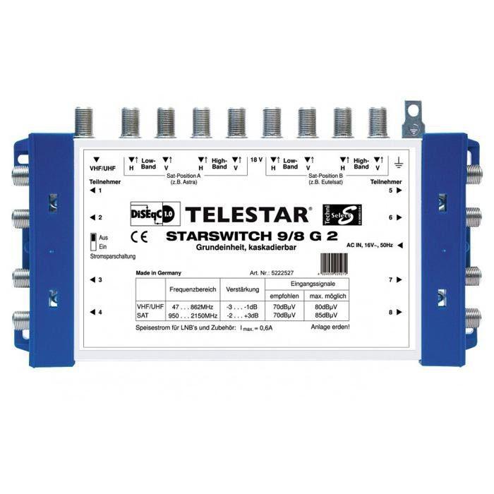 TELESTAR Multischalter-Grundeinheit »STARSWITCH 9/8 G2«