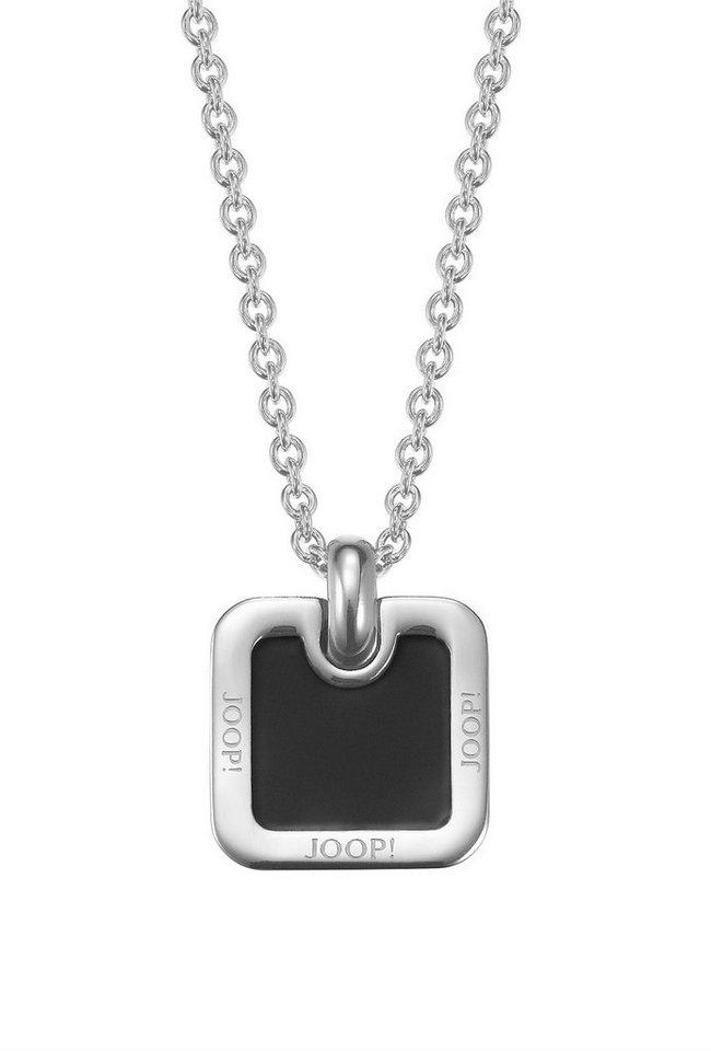 JOOP! Halskette, mit Epoxy, »JP-DENNIS, JPNL10595A500« in silberfarben/schwarz