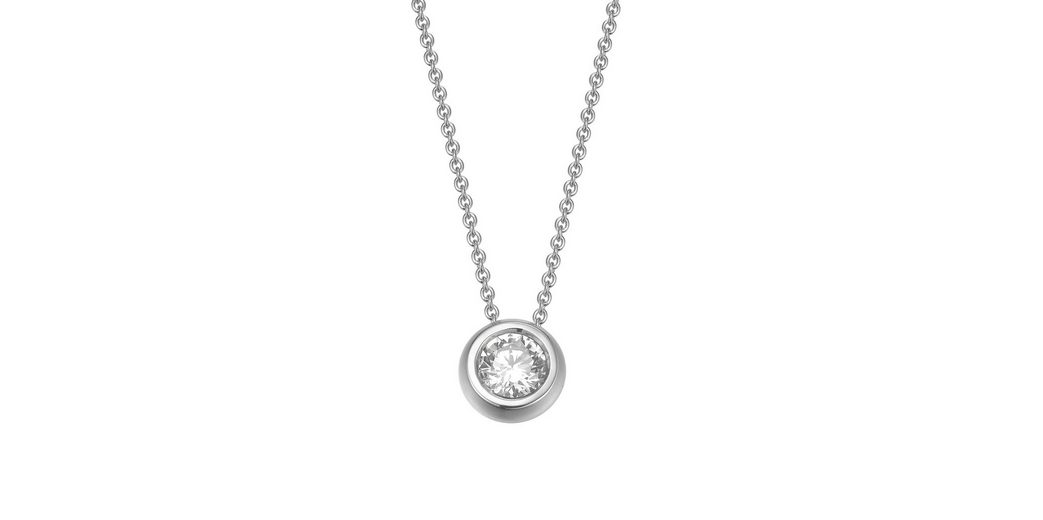 JOOP! Halskette, mit Zirkonia, »JP-LANA, JPNL90721A420«