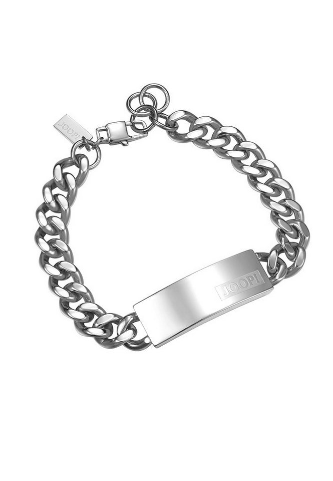 JOOP! Armband, »JP-LOGO SIGNATURE, JPBR10616A215« in silberfarben