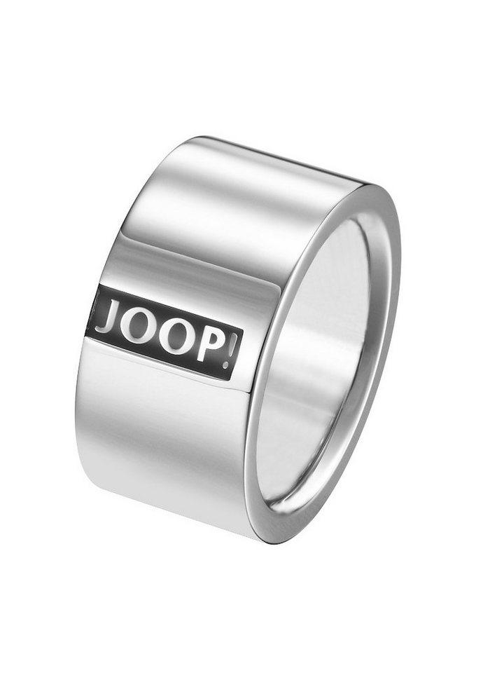 JOOP! Ring mit Epoxy, »JP-LOGO SIGNATURE, JPRG10603A « in silberfarben/schwarz