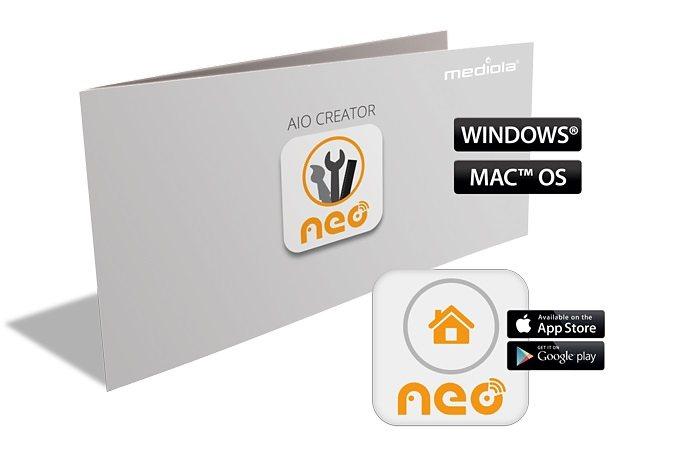 Mediola Smart Home Steuerung & Komfort »AIO CREATOR NEO MAX! Edition« in grau