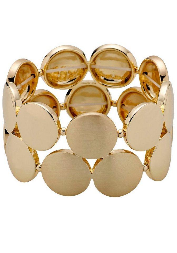 Pilgrim Armband »in gebürsteter Optik« in goldfarben