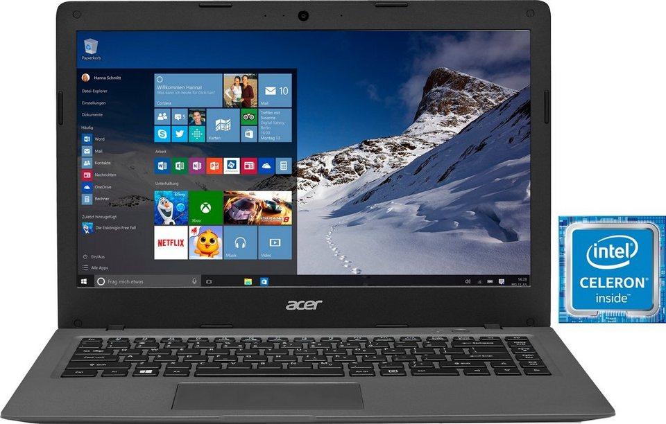Acer Aspire AO1-431-C28S Notebook, Intel® Celeron™, 35,6 cm (14 Zoll), 32 GB Speicher in grau