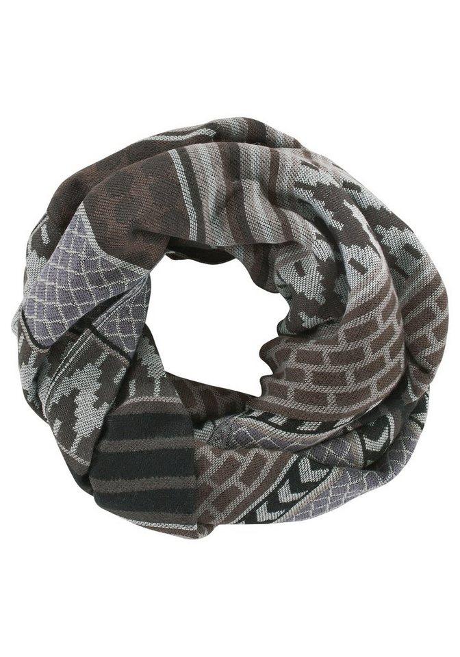 Highlight Company Loop mit grafischem Muster in schwarz-grau