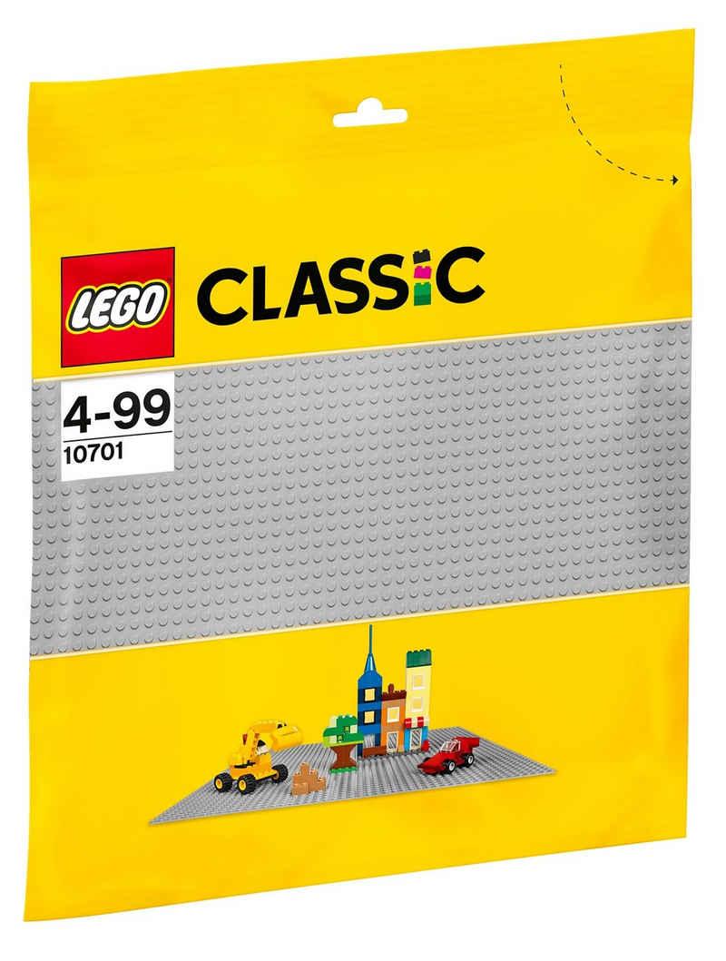 LEGO® Konstruktionsspielsteine »Graue Grundplatte (10701), LEGO® Classic«, (1 St)