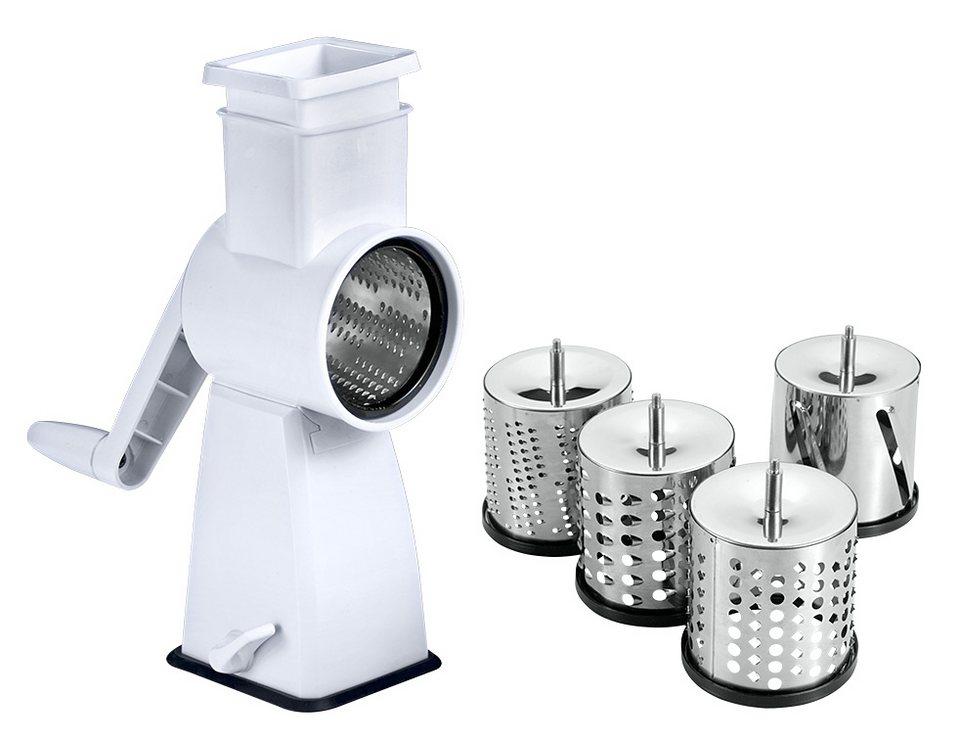metaltex Küchenhobel mit Saugfuß, »Flash« in weiß, silber