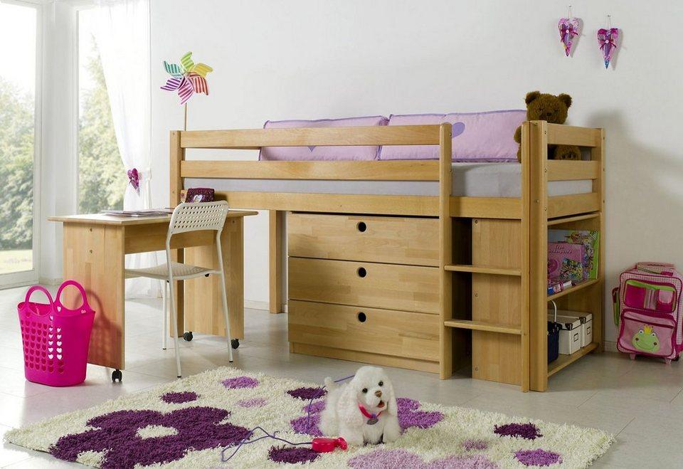 Relita Halbhohes Bett Set »Alex« in Buche natur