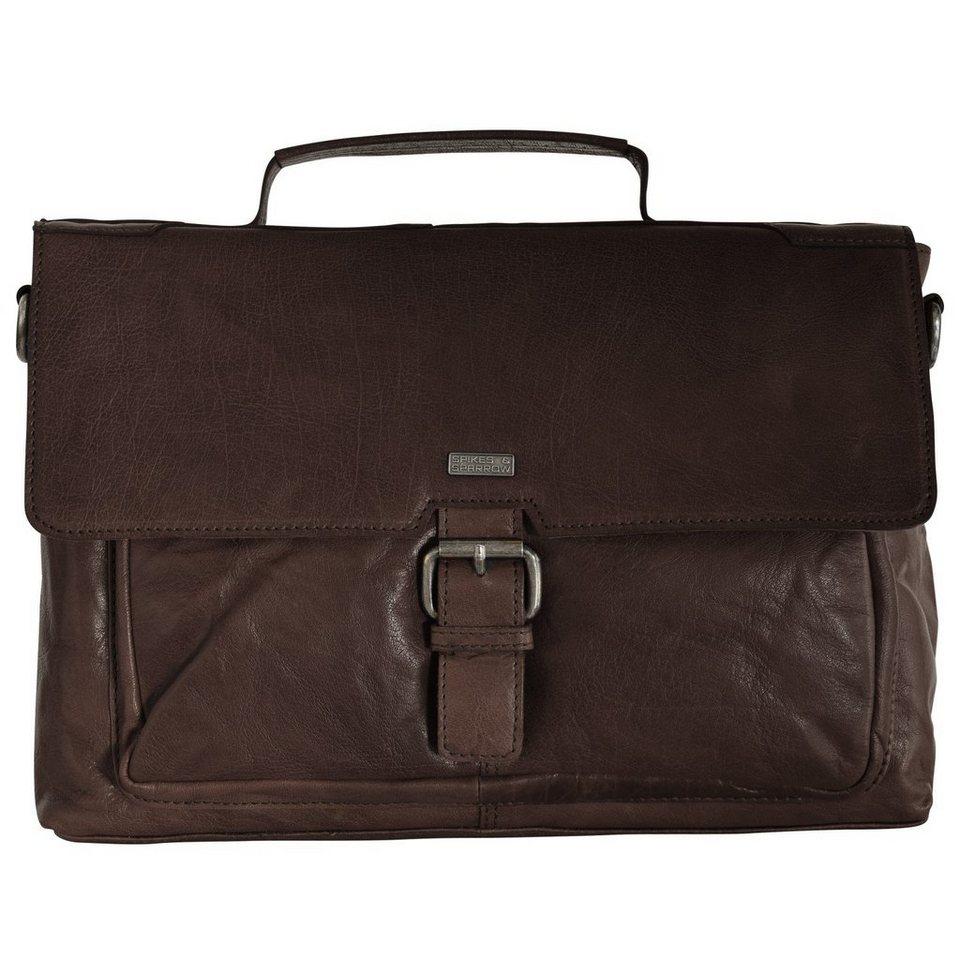 Spikes & Sparrow Bronco Aktentasche 35 cm Laptopfach in dark brown