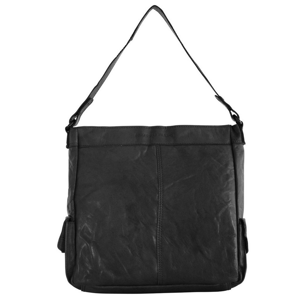 Spikes & Sparrow Bronco Shopper Tasche 30 cm in black