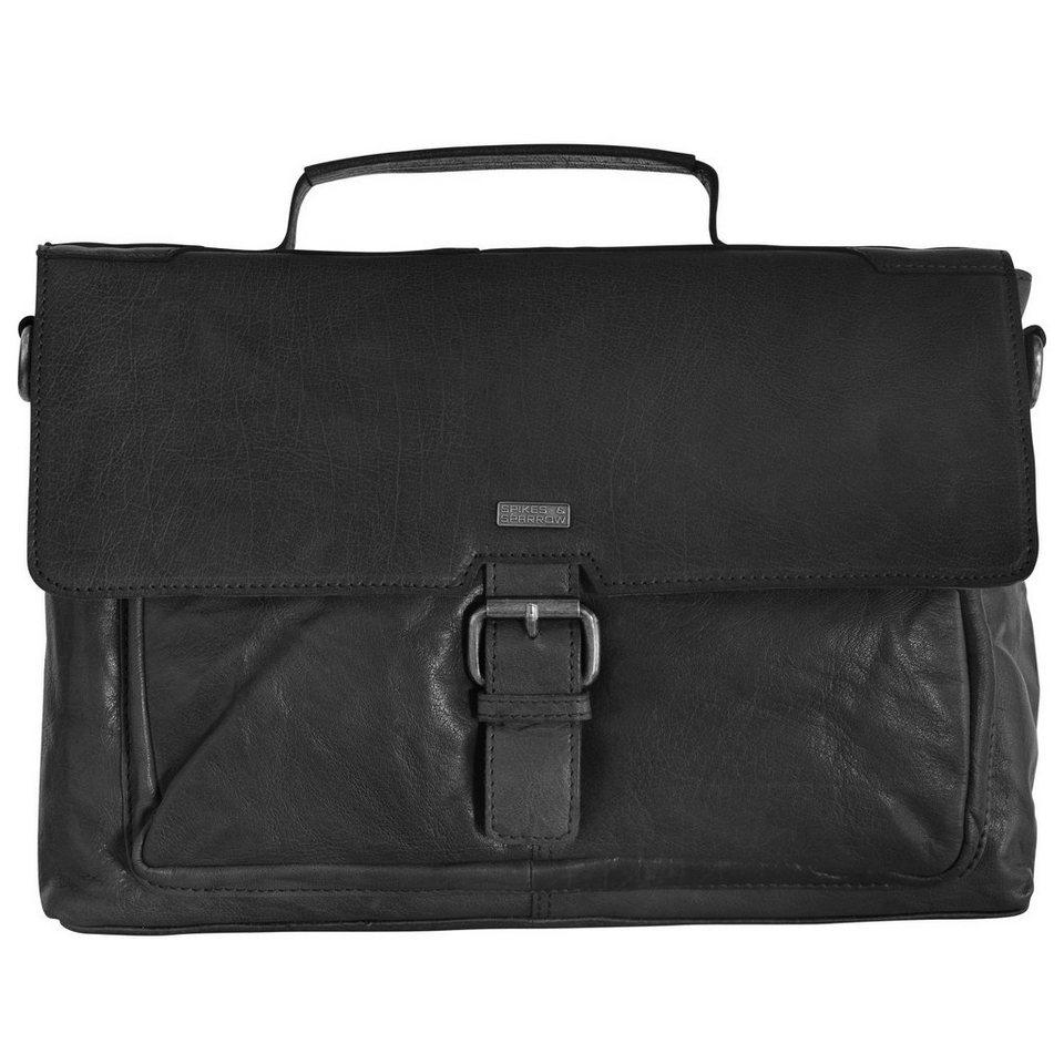 Spikes & Sparrow Bronco Aktentasche 35 cm Laptopfach in black