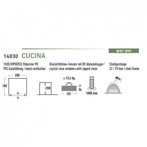 High Peak Zelte »Cucina« in Grau