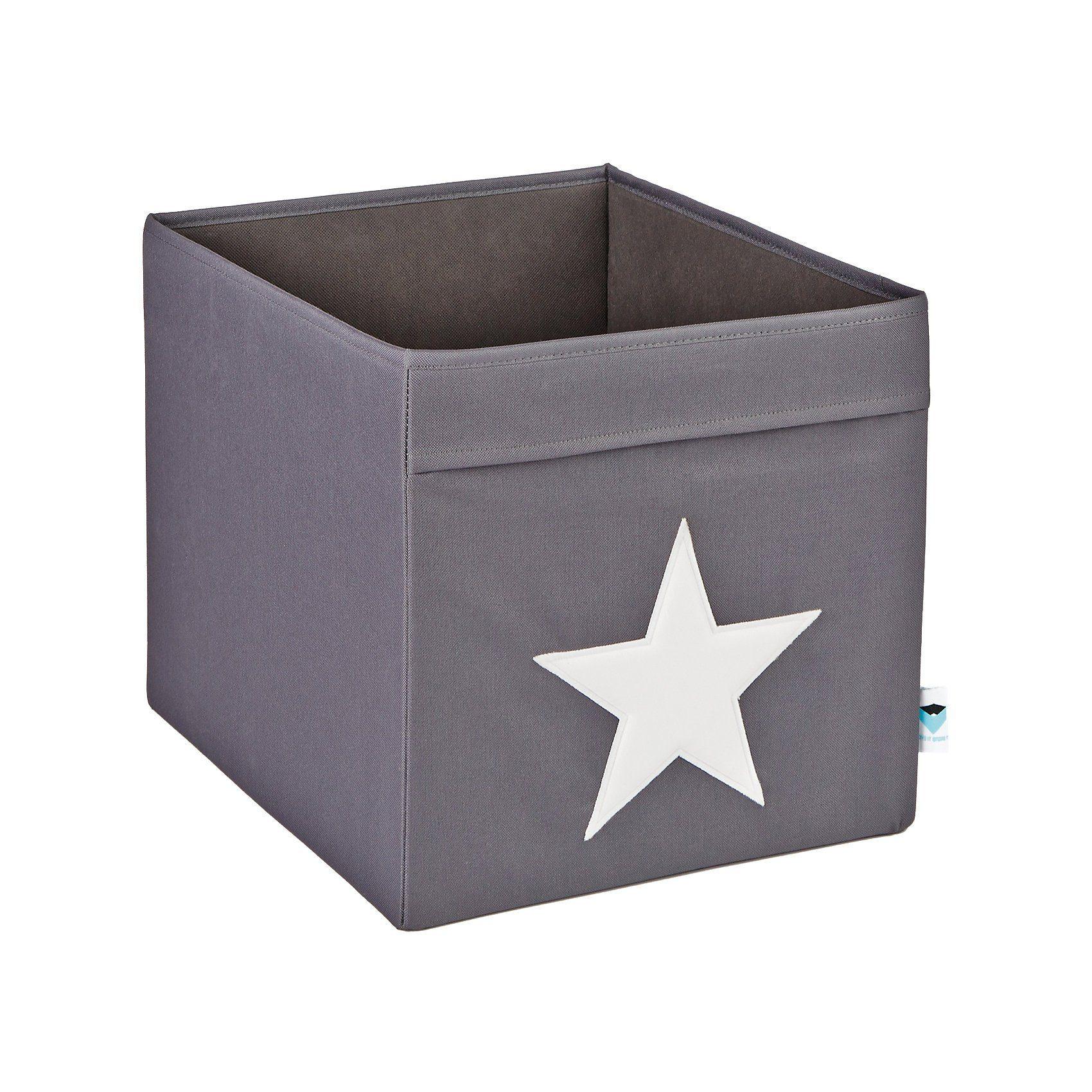 Faltbox Stern, groß, grau