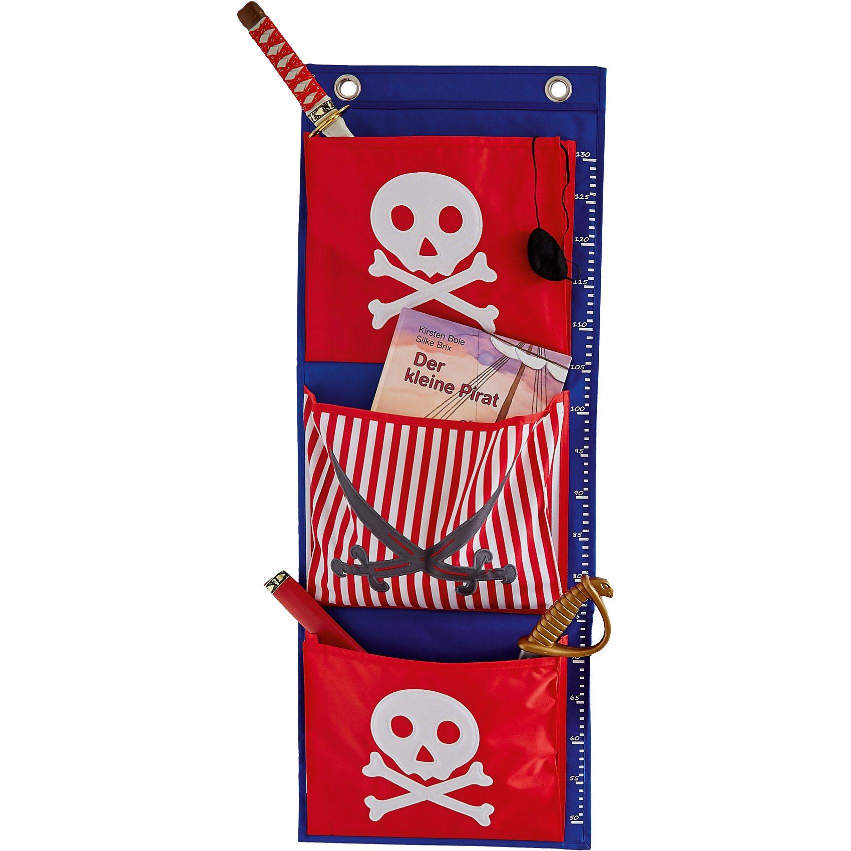 Hängeaufbewahrung Pirat, rot/blau