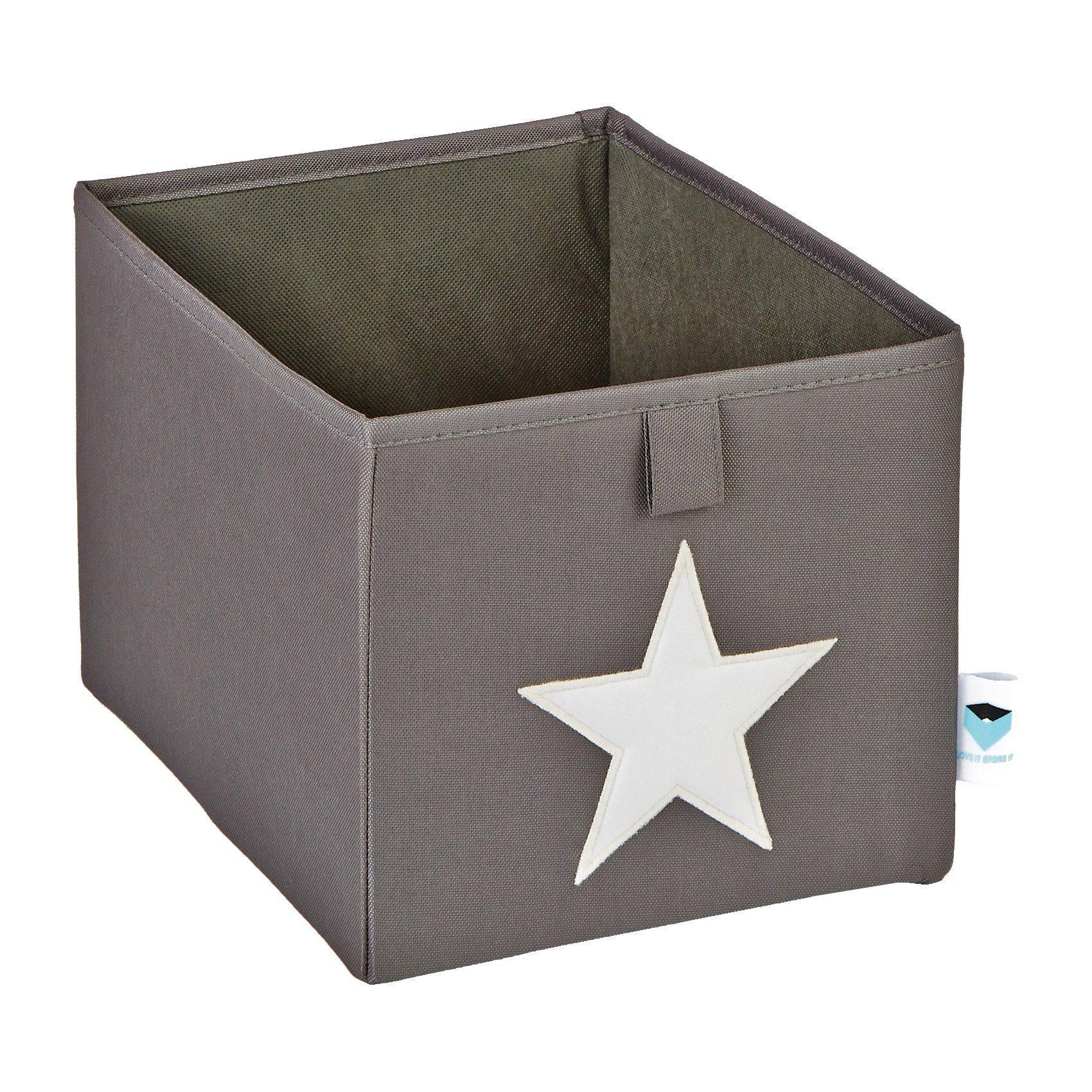 Faltbox Stern, klein, grau