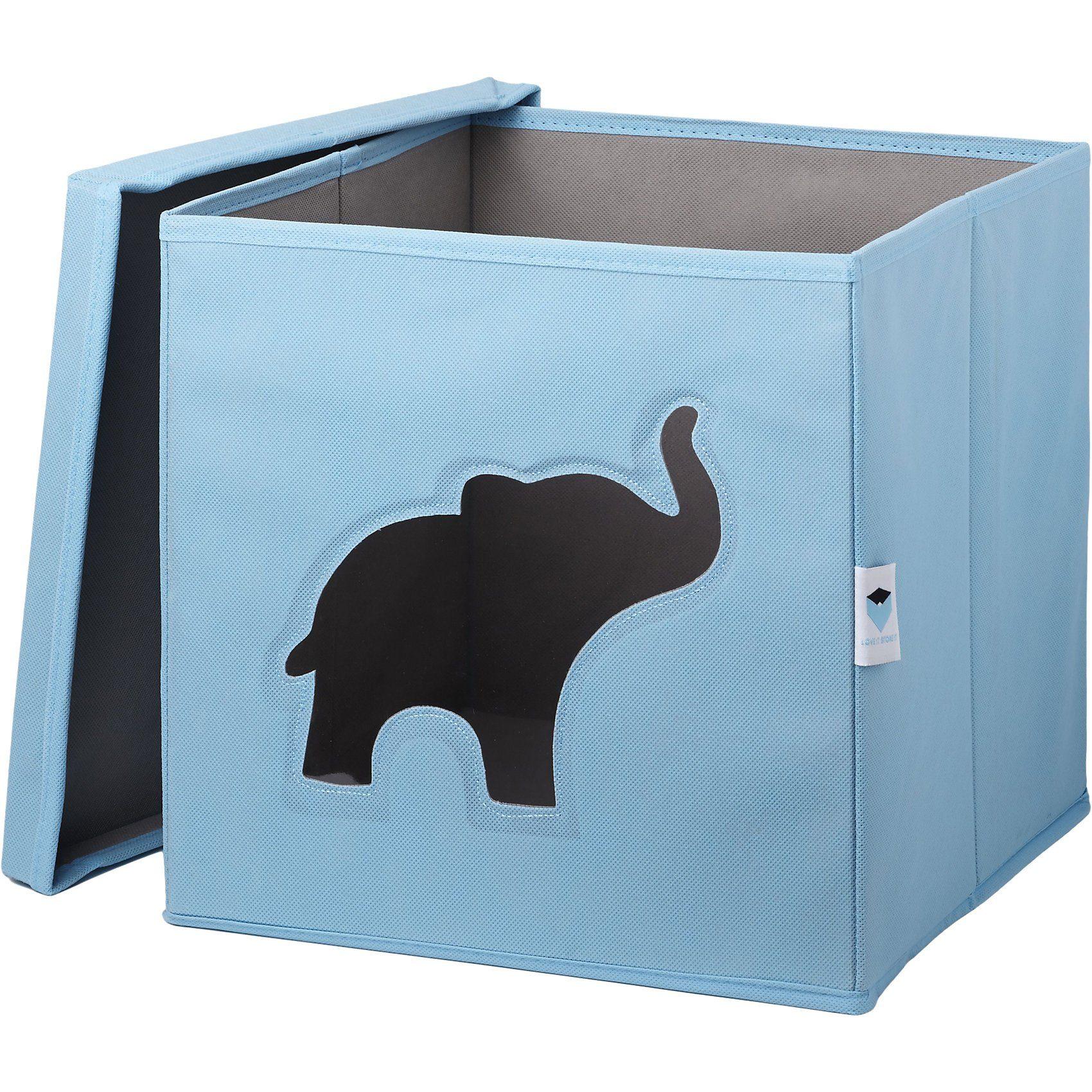 Aufbewahrungsbox Elefant, blau