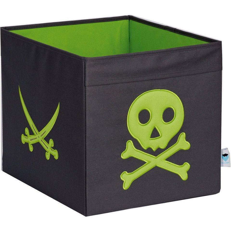 aufbewahrungsbox pirat grau gr n online kaufen otto. Black Bedroom Furniture Sets. Home Design Ideas