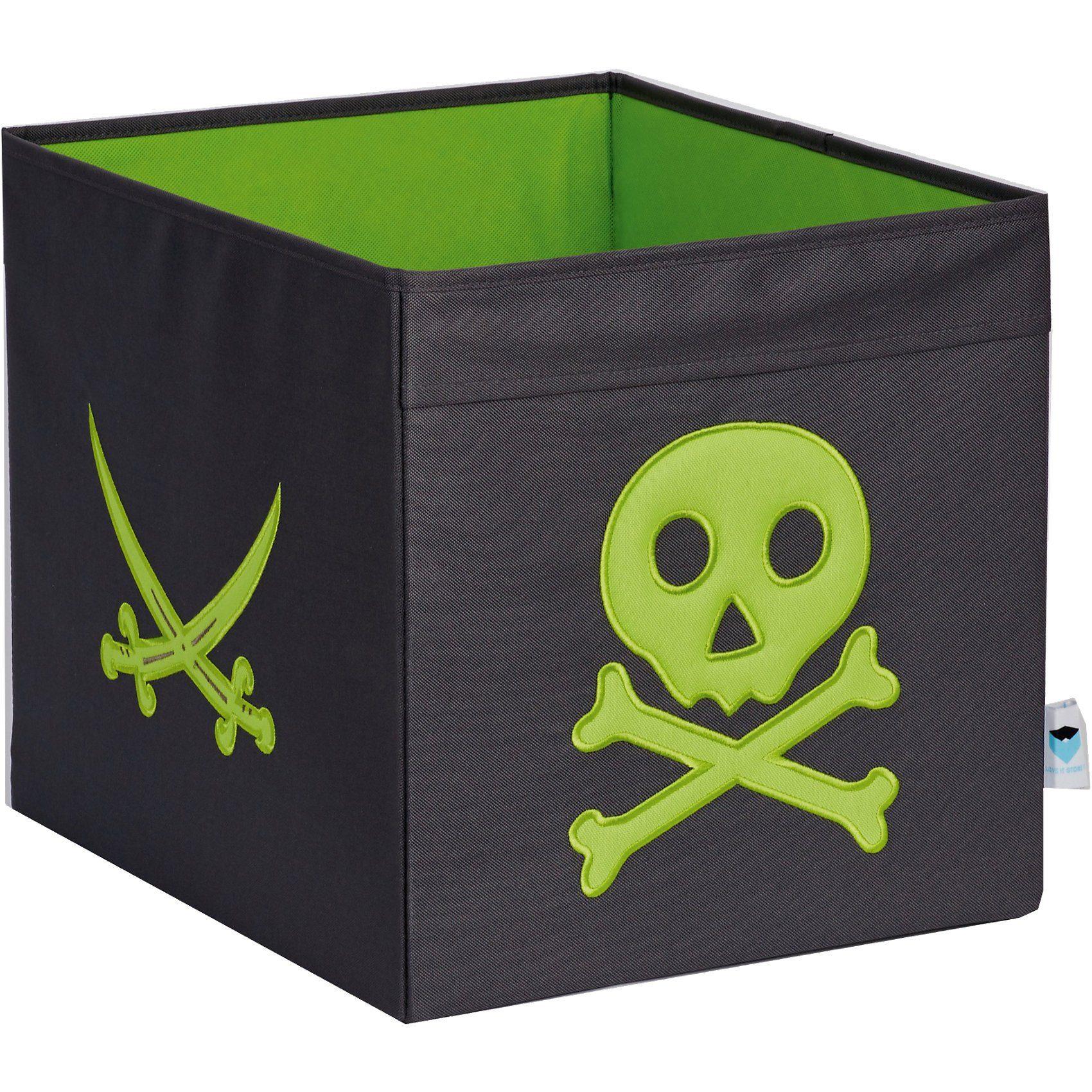 Aufbewahrungsbox Pirat, grau/grün