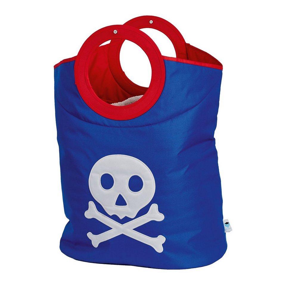 Wäschetasche Pirat, blau in blau