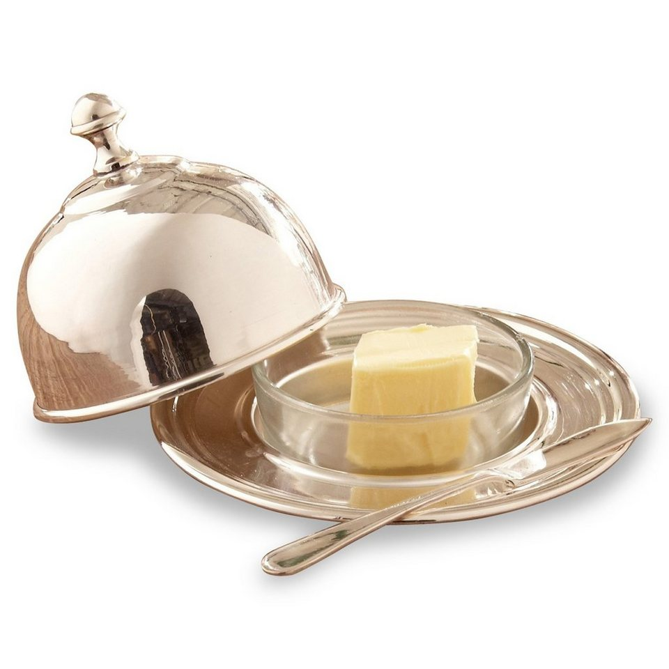 Loberon Butterdose »Troubat« in silber
