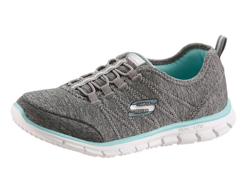 Skechers Slipper mit Memory Foam in grau meliert