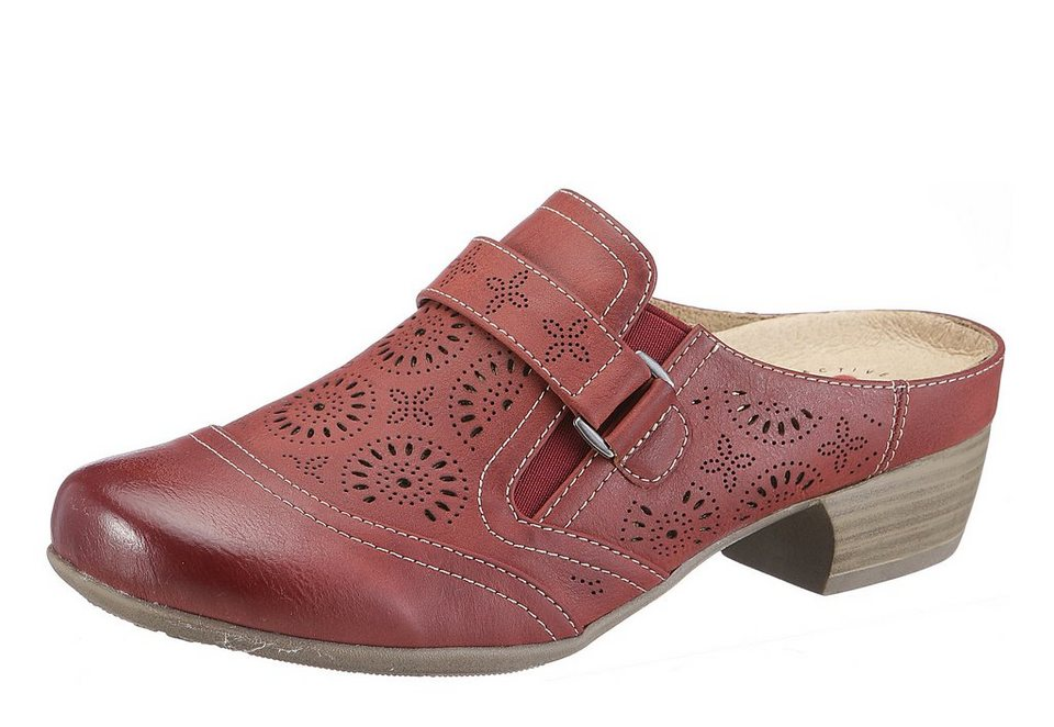 Hush Puppies Sabot in rot