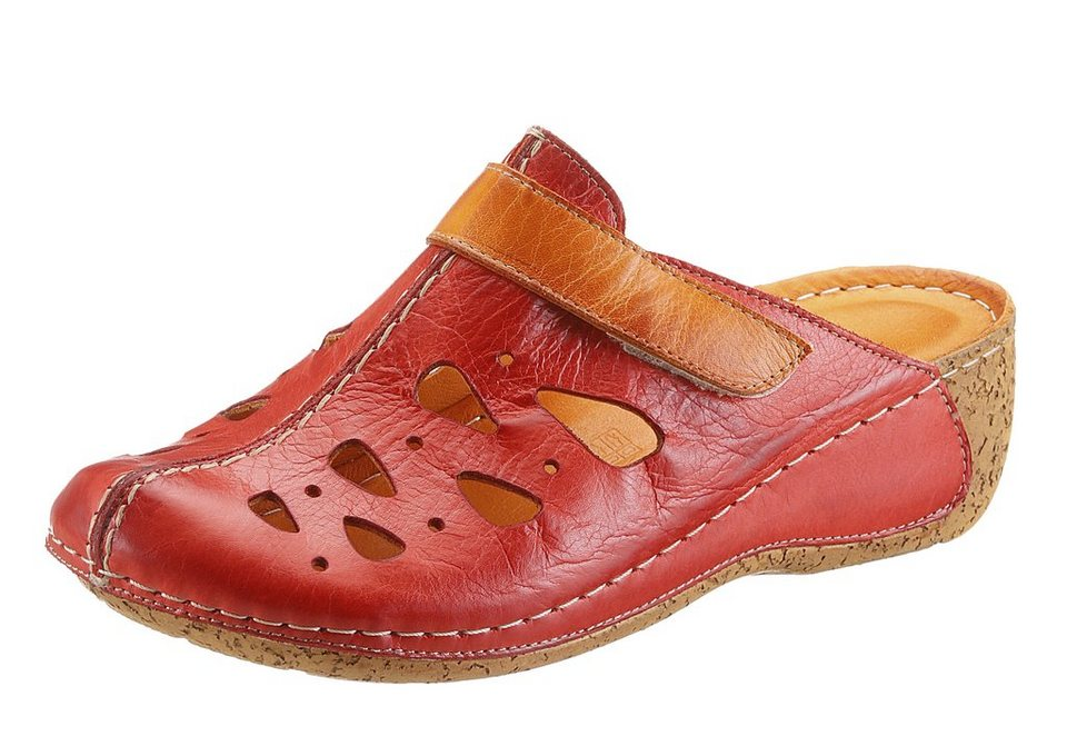 Hush Puppies Clog in rot-orange