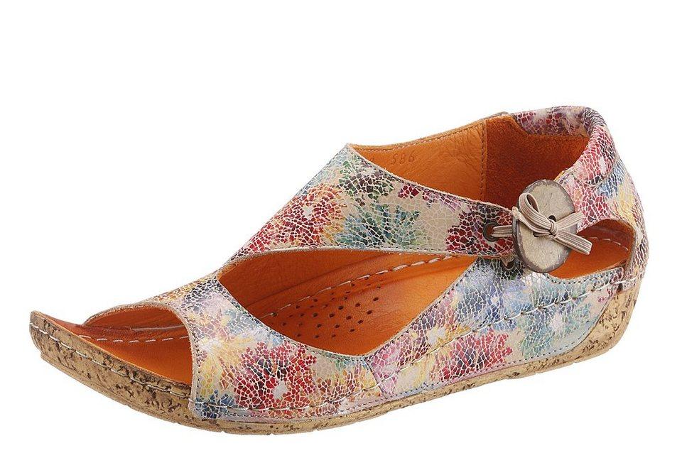 Hush Puppies Sandale mit Gummizug in beige multicolor