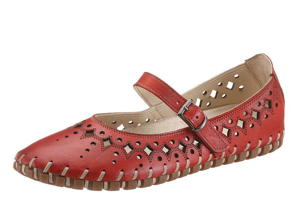 Hush Puppies Ballerina mit Perforierung in rot used