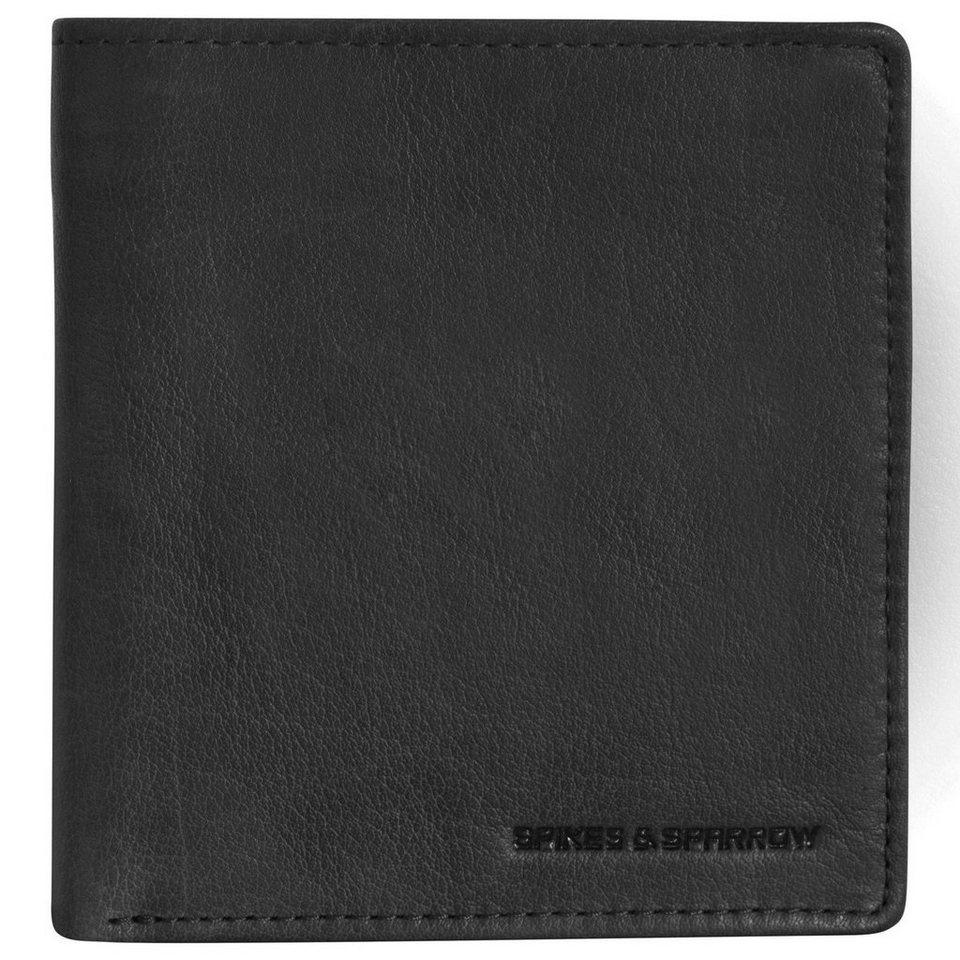 Spikes & Sparrow Bronco Wallets Geldbörse Leder 11,5 cm in black