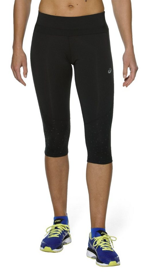 asics Jogginghose »Lite-Show Knee Tight Women« in schwarz