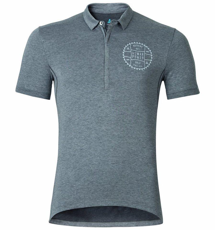 Odlo Radtrikot »CLASSIC Polo shirt s/s Men graphite melange« in grau