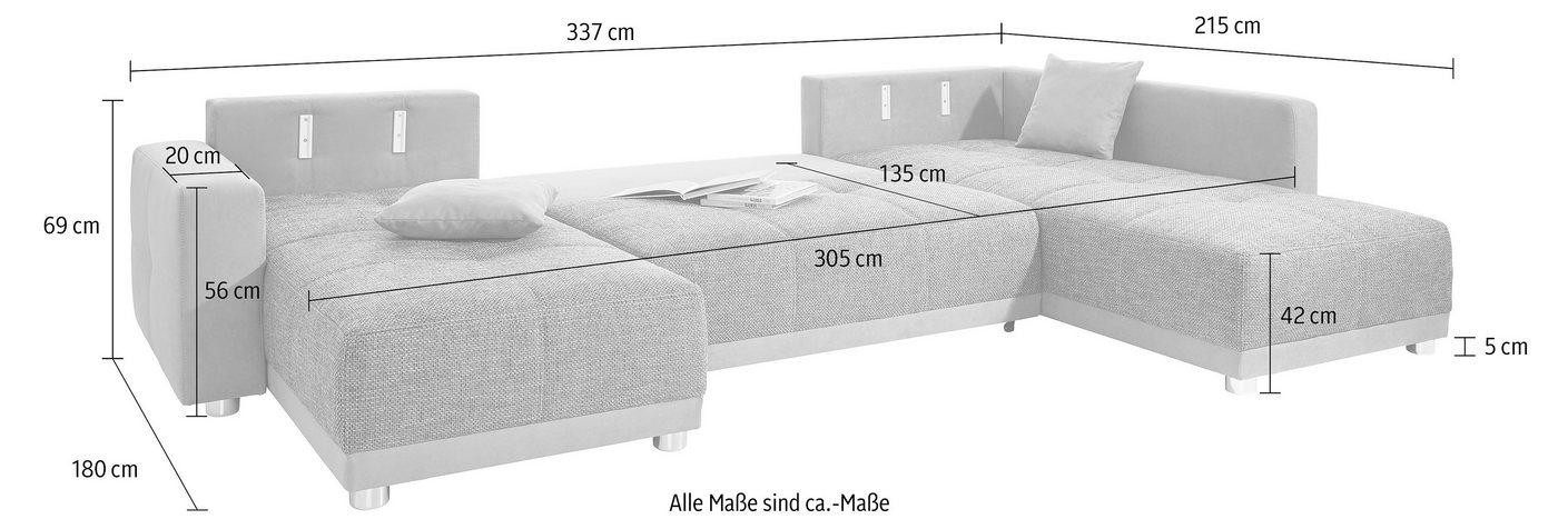 Maßstäbliche Zeichnung der Bettfunktion