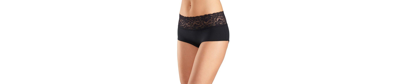 Vivance Panties (3 Stück) mit breiter Spitze am Bund, Cotton made in Africa