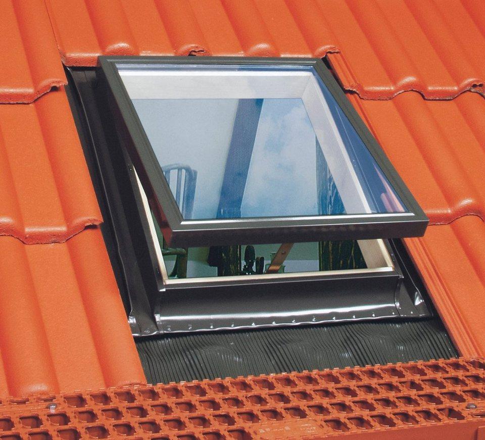 Sparset: Dachfenster »FTS-V U2«, BxH: 78x118 cm, inkl. Rollo und Eindeckrahmen in grau