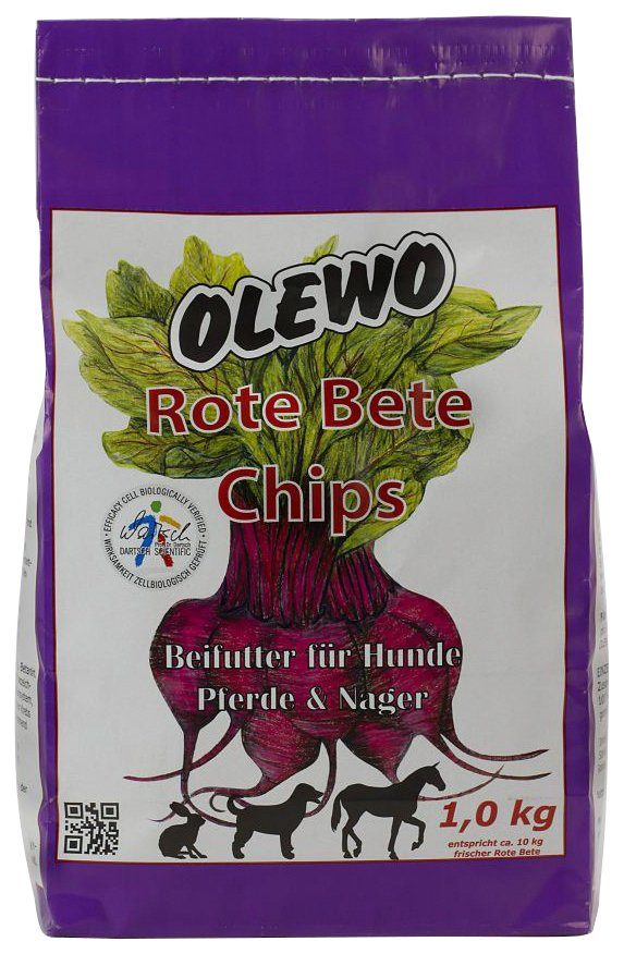 Set: Hundesnack »Rote Bete Chips«, 2 Beutel á 1 kg